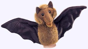 8 in. Little Bat Puppet with 15 in. wingspan