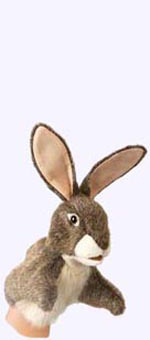 10 in. Hare Little Hand Puppet