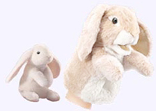 4 in. Lop EarRabbit Finger Puppet