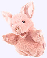 7 in. Little Pig Puppet