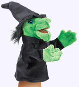 9 in. Little Witch Puppet