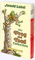 slip-cased collection of three paperback books Frog and Toad Are Friends, Frog and Toad All Year, and Frog and Toad Together