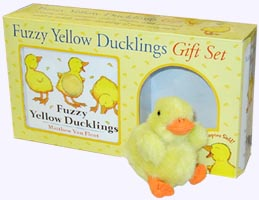 Fuzzy Yellow Ducklings Book and Fuzzy Duckling Plush