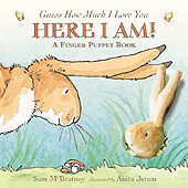 Here I Am! Board Book with finger puppet