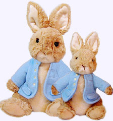 10 in. and 7 in. Peter Rabbit Plush Dolls
