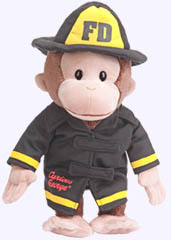 12 in. Curious George Fireman