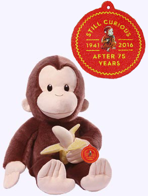 20 in. 75th Anniversary Curious George Plush Doll