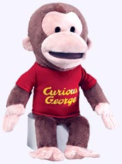 14 in. Curious George Full Body Had Puppet
