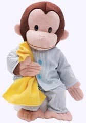 16 in. Curious George Plush in Pajamas