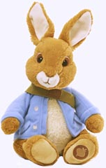 10 in. Peter Rabbit Plush Nick TV Character