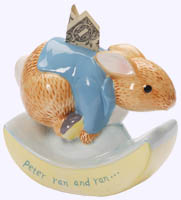 Classic Peter Rabbit ceramic Money Bank