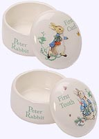 Ceramic Peter Rabbit First Curl and First Tooth Set