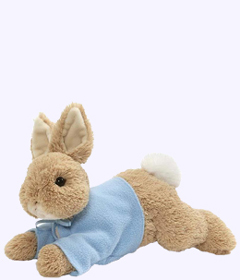 12 in. Peter Rabbit Plush Laying Down