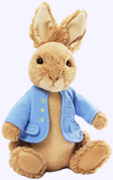 6 in. Classic Small Peter Rabbit Plush Storybook Character