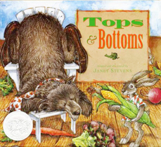 Tops & Bottoms Hardcover Picture Book