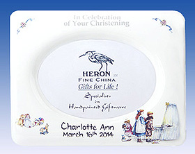 Heron Christening Photo Frame