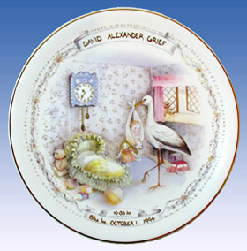 Heron Nursery Stork Birth Plate
