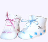 Personalized Bone China Booties