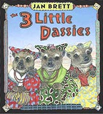 Jan Brett's The 3 Little Dassies Hardcover Picture Book