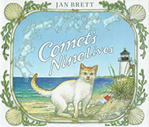 Jan Brett's Comet's Nine Lives Hardcover Picture Book