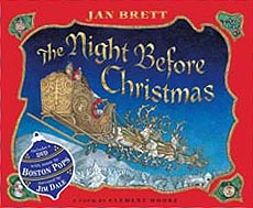The Night Before Christmas Hardcover Picture Book w/DVD