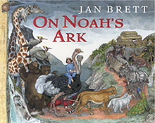 Jan Brett's On Noah's Ark Hardcover Picture Book