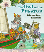 Jan Brett's The Owl and the Pussycat Hardcover Picture Book
