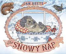 Jan Brett's The Snowy Nap Hardcover Picture Book