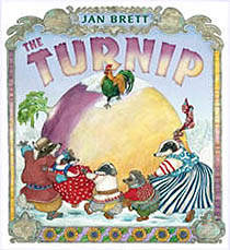 Jan Brett's The Turnip Hardcover Picture Book