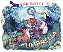 Jan Brett's The Umbrella Hardcover Picture Book