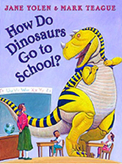 PHow Do Dinosaurs Go to School? Hardcover Picture Book