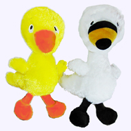 9 in. Duck and Goose Plush Pair