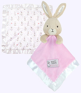 14 in. by 14 in. Flopsy Bunny Blankie