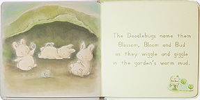 Inside pages of The Garden Welcomes Blossom, Bloom and Bud Board Book