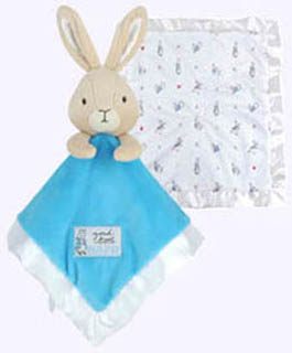 14 in. by 14 in. Peter Rabbit Blankie