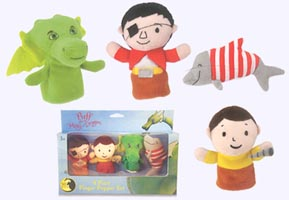 4 in. Puff the Magic Dragon Finger Puppets