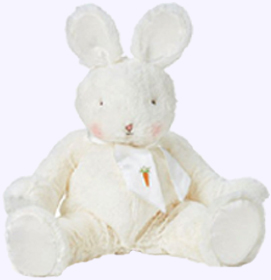 14 in. Sweet and Tender Cream Bunny Plush