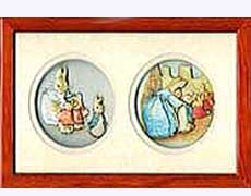 Beatrix Potter Framed Cameos of Mrs. Rabbit