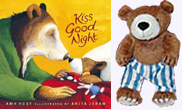 Kiss Good Night Board Book and Bear Plush