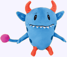 9 in. Declan Monster Plush Doll