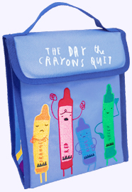 10 in. Day the Crayons Quit Lunch Bag.