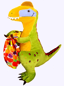 14 in.Get Well Soon Dino Plush Doll