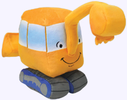 7 in. Little Excavator Plush Toy