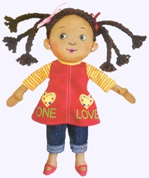 9 in. One Love Cloth Doll
