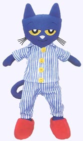 14.5 in. Pete the Cat Bedtime Blues Doll