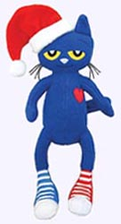 15 in. Pete the Cat Christmas Plush Doll
