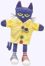 14.5 in. Pete the Cat and His Four Groovy Buttons Puppet