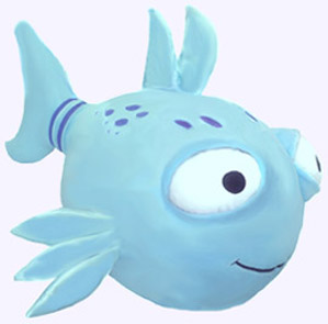 22 in. Giant Pout-Pout Fish Plush Storybook Character