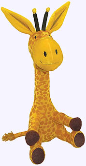 14 in. Steam Train Dream Train Giraffe Plush Doll