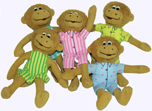 5 in.Monkeys Finger Puppets